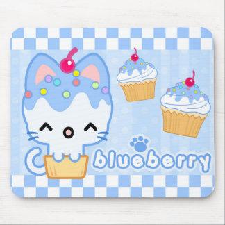 Petit gâteau Kitty Mousepad de myrtille Tapis De Souris