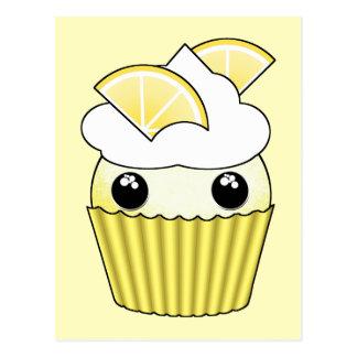 Petit gâteau mignon de citron de Kawaii - par Carte Postale