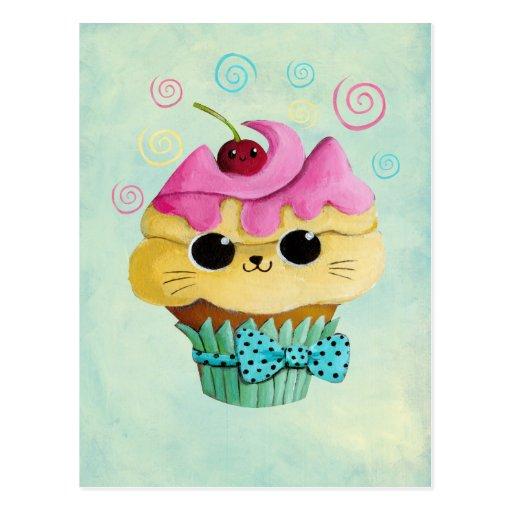 Petit gâteau mignon de Kitty Carte Postale
