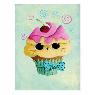 Petit gâteau mignon de Kitty Cartes Postales