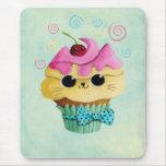 Petit gâteau mignon de Kitty Tapis De Souris