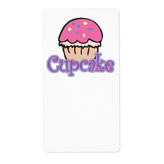 Petit gâteau rose étiquette d'expédition