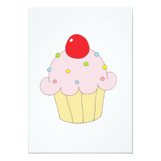 Petit gâteau rose invitation personnalisable