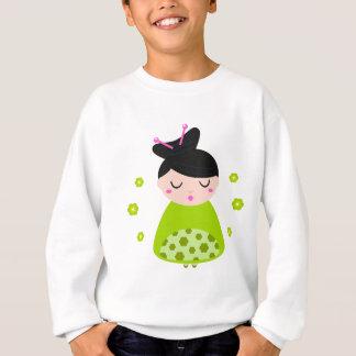 Petit geisha mignon/vert de ressort sweatshirt