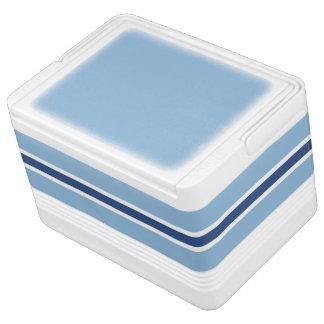 Petit glacière de boissons d'igloo de rayure bleue