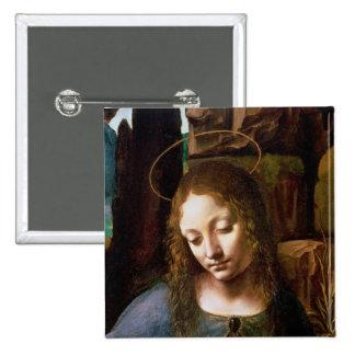 Petit groupe de la tête de la Vierge Badge Carré 5 Cm