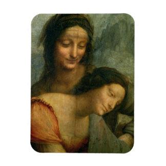 Petit groupe de la Vierge et de St Anne de la Vier Magnet En Vinyle