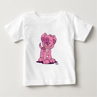 Petit habillement rose de bébé de chiot t-shirt pour bébé