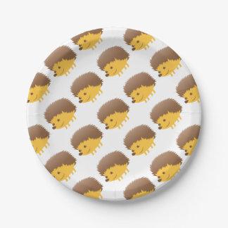 petit hérisson mignon assiettes en papier