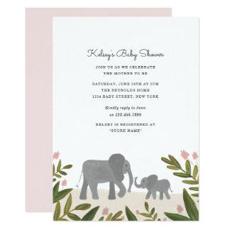 Petit invitation de baby shower d'éléphant