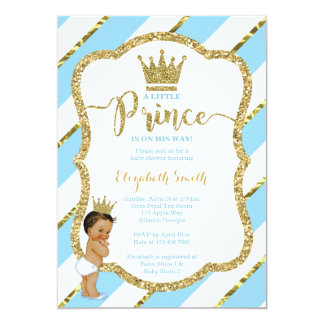 Petit invitation de prince baby shower, parties