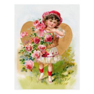 petit jardinier carte postale
