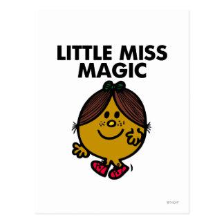 Petit lettrage noir de Mlle Magic | Carte Postale