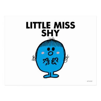 Petit lettrage noir de Mlle Shy | Carte Postale