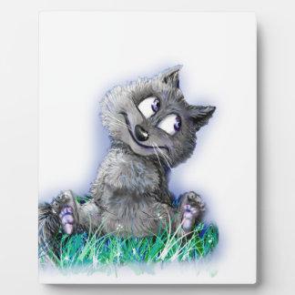 Petit loup plaque photo