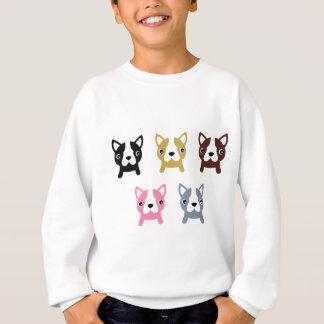 Petit merveilleux mignon de chiens coloré sweatshirt