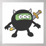 petit monstre idiot de ninja affiche