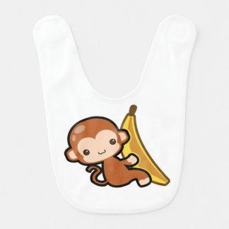 Petit morceau de singe une banane bavoir pour bébé