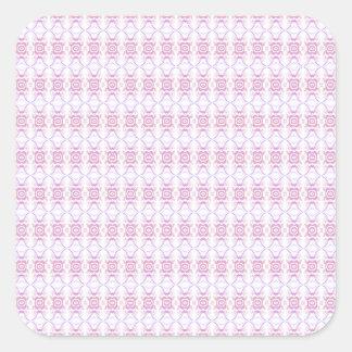 Petit motif de fleur rose. Blanc et lilas Sticker Carré