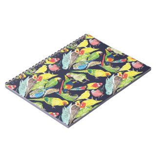 Petit motif de perroquets carnet