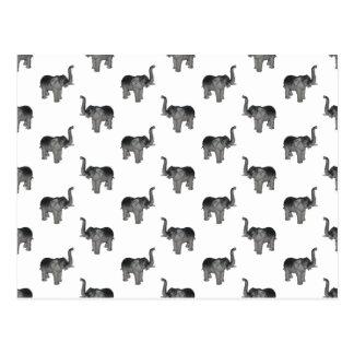 Petit motif gris d'éléphant carte postale