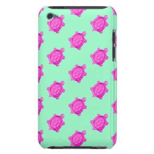 Petit motif rose mignon de tortue coque iPod touch Case-Mate