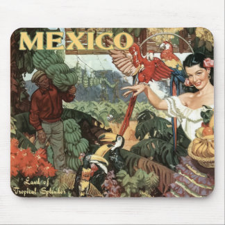 Petit mousepad vintage d'image du Mexique Tapis De Souris