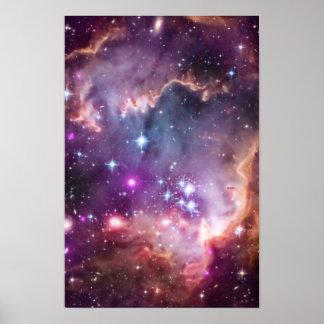 Petit nuage de Magellanic pourpre Poster