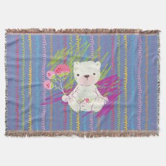 Petit ours blanc avec les griffonnages colorés couverture