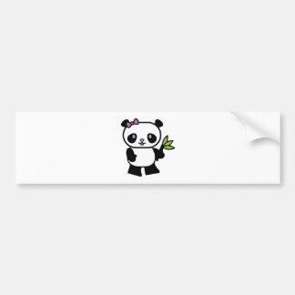 petit ours panda mignon autocollant pour voiture