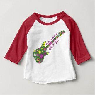 Petit pain de n d'amour et de roche de paix t-shirt pour bébé