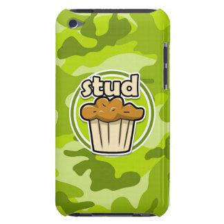 Petit pain drôle de goujon sur le camo vert coques barely there iPod