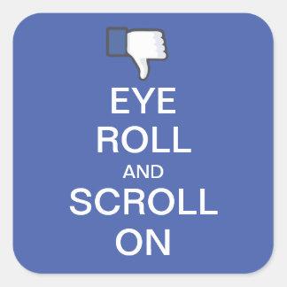 Petit pain et rouleau d'oeil sur Snarky Facebook Sticker Carré