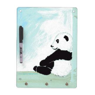 Petit panda :Tableau effacable et porte clé - Tableau Effaçable À Sec