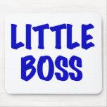Petit patron bleu tapis de souris