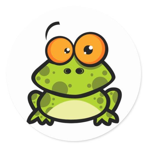 petit personnage de dessin anim de grenouille sticker. Black Bedroom Furniture Sets. Home Design Ideas