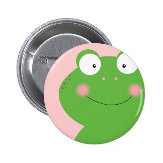 Petit Pin mignon de Froggy Badge Rond 5 Cm