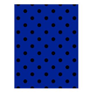 Petit pois - noir sur le bleu impérial cartes postales