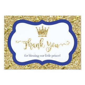 Petit prince carte de remerciements, bleu, carton d'invitation 8,89 cm x 12,70 cm