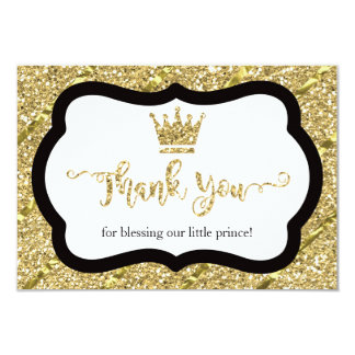 Petit prince carte de remerciements, noir, carton d'invitation 8,89 cm x 12,70 cm