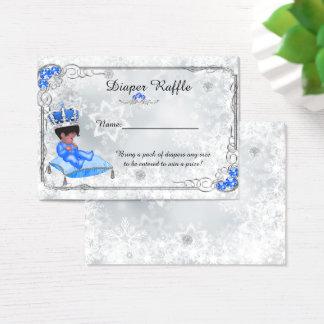 Petit prince Diaper Raffle Tickets, gris congelé Cartes De Visite