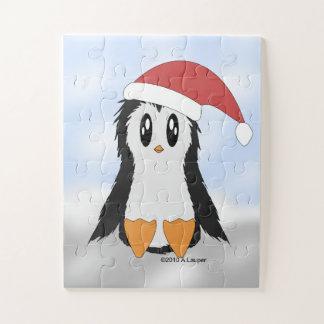 Petit puzzle mignon de pingouin de Noël