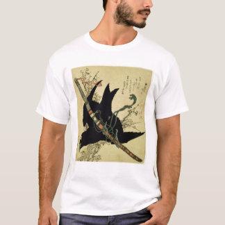 Petit Raven avec l'épée de clan de Minamoto T-shirt