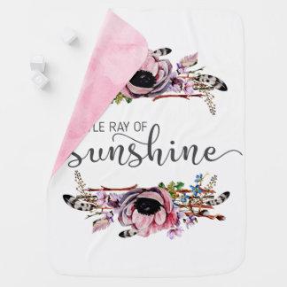 Petit rayon de bébé floral chic de Boho de soleil Couverture De Bébé