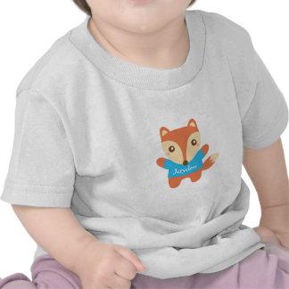 Petit renard mignon dans le bleu, pour le bébé