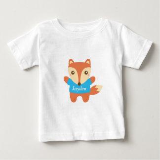 Petit renard mignon dans le bleu, pour le bébé t-shirt