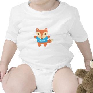 Petit renard mignon dans le bleu, pour le bébé barboteuses