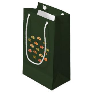 Petit sac brillant de cadeau de citrouille