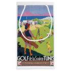 Petit Sac Cadeau Affiche vintage de voyage de Golf de La Soukra
