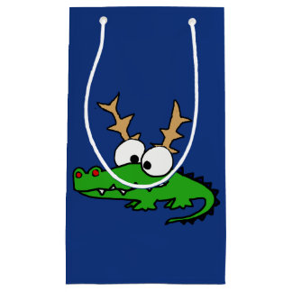 Petit Sac Cadeau Alligator génial mignon avec l'art de Noël